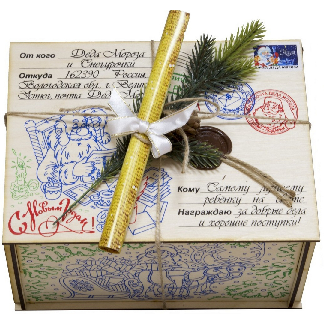 Как упаковать подарок от деда мороза 234